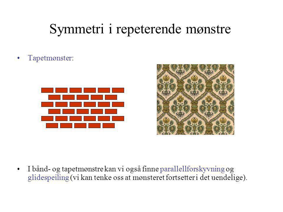 Symmetri i repeterende mønstre