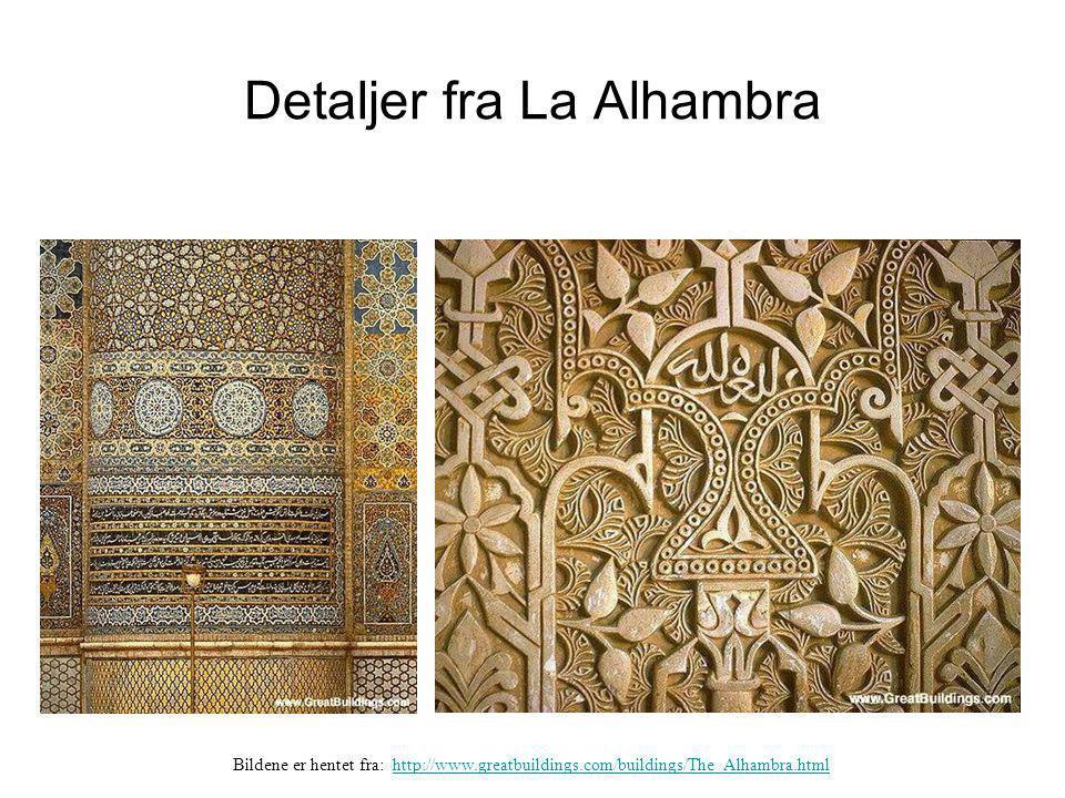 Detaljer fra La Alhambra