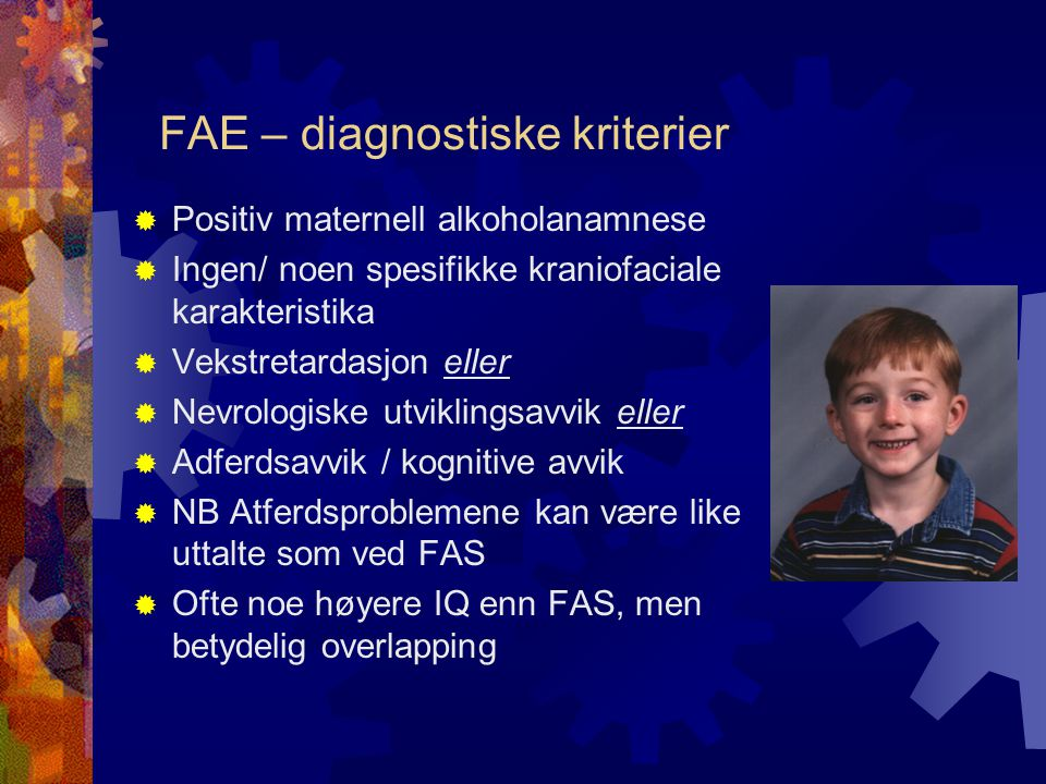 FAE – diagnostiske kriterier