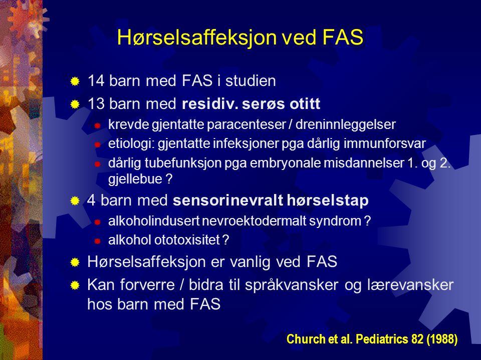 Hørselsaffeksjon ved FAS