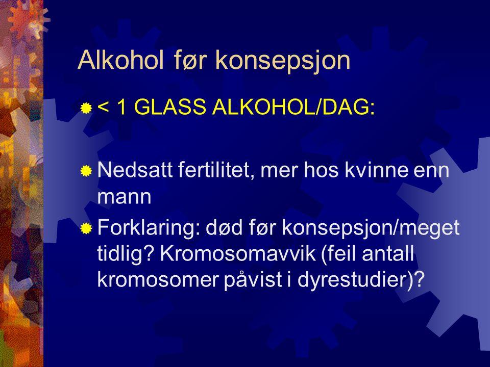 Alkohol før konsepsjon