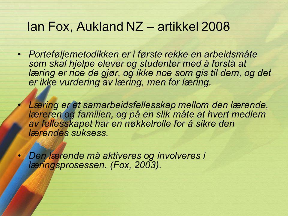 Ian Fox, Aukland NZ – artikkel 2008