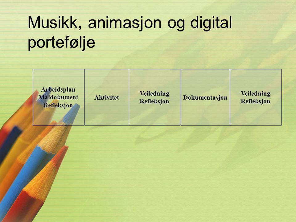 Musikk, animasjon og digital portefølje