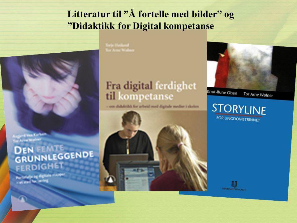 Litteratur til Å fortelle med bilder og