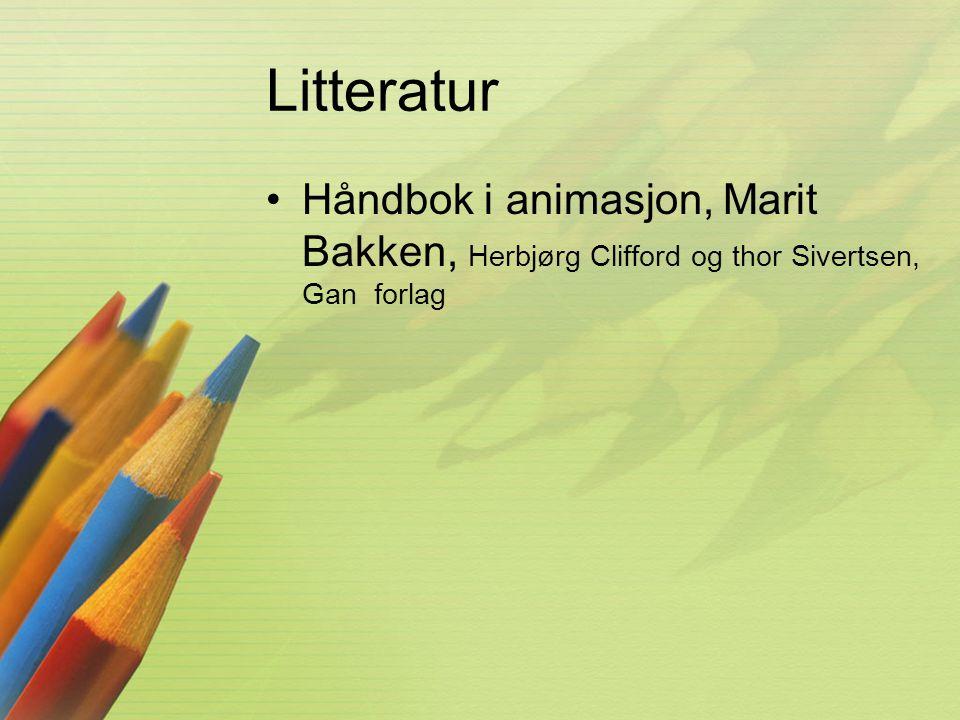 Litteratur Håndbok i animasjon, Marit Bakken, Herbjørg Clifford og thor Sivertsen, Gan forlag