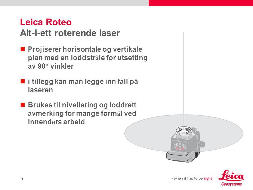 Leica Roteo Alt-i-ett roterende laser
