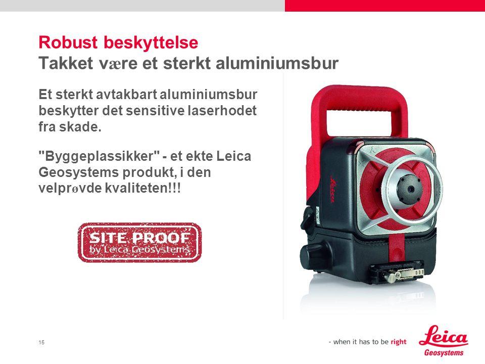 Robust beskyttelse Takket være et sterkt aluminiumsbur