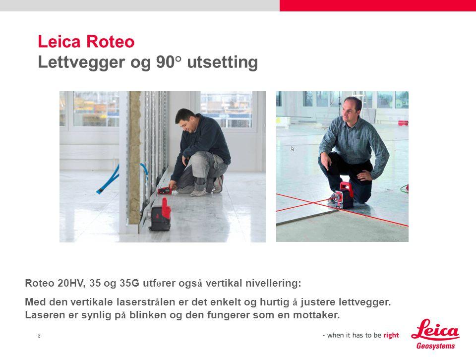 Leica Roteo Lettvegger og 90° utsetting