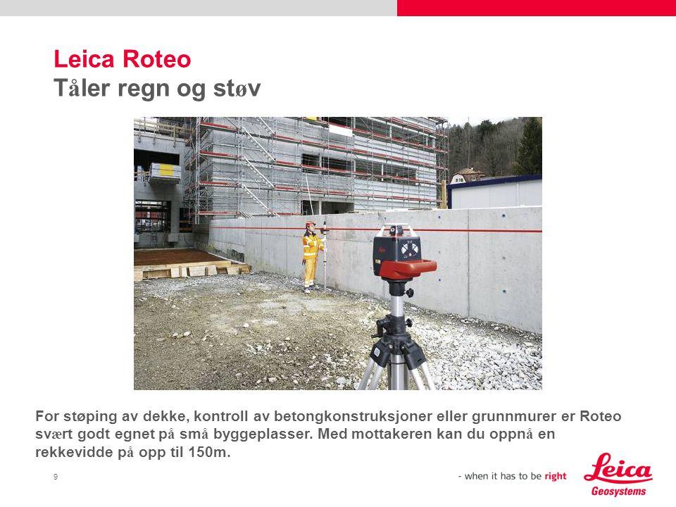 Leica Roteo Tåler regn og støv