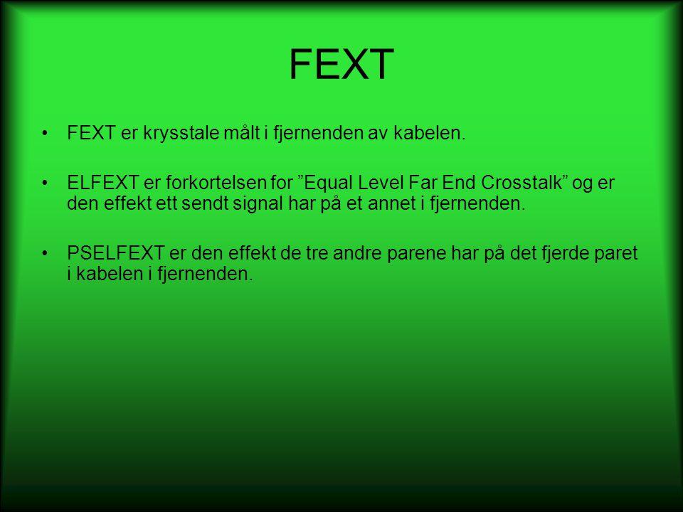 FEXT FEXT er krysstale målt i fjernenden av kabelen.