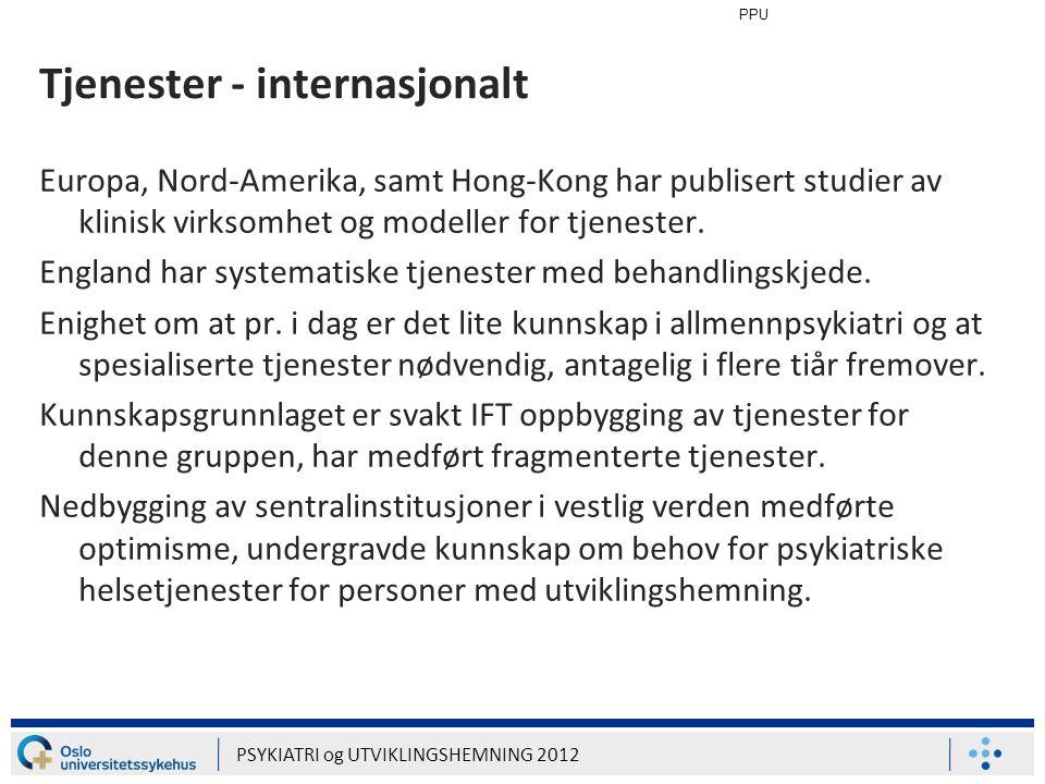 Tjenester - internasjonalt