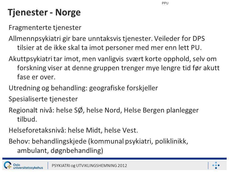 Tjenester - Norge Fragmenterte tjenester
