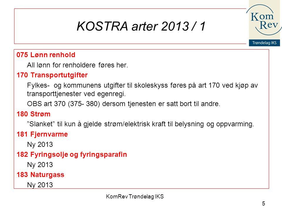 KOSTRA arter 2013 / 1 075 Lønn renhold
