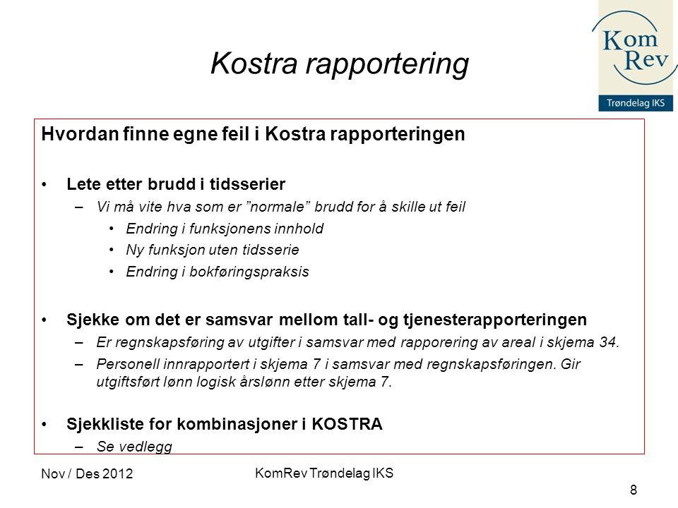 Kostra rapportering Hvordan finne egne feil i Kostra rapporteringen