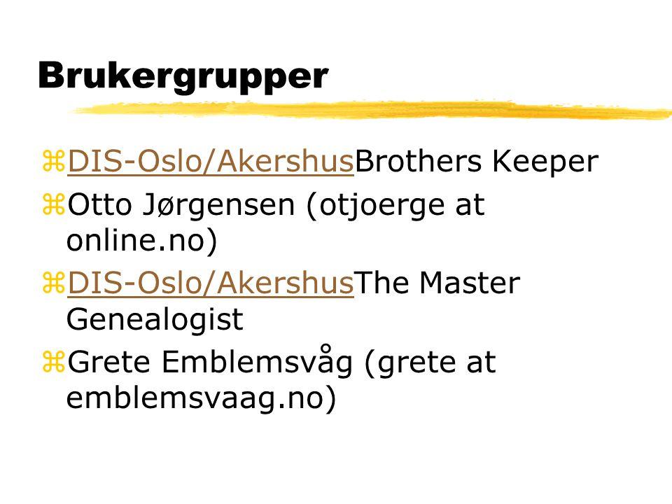 Brukergrupper DIS-Oslo/AkershusBrothers Keeper