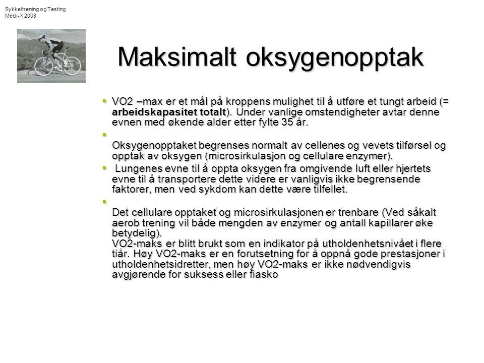 Maksimalt oksygenopptak