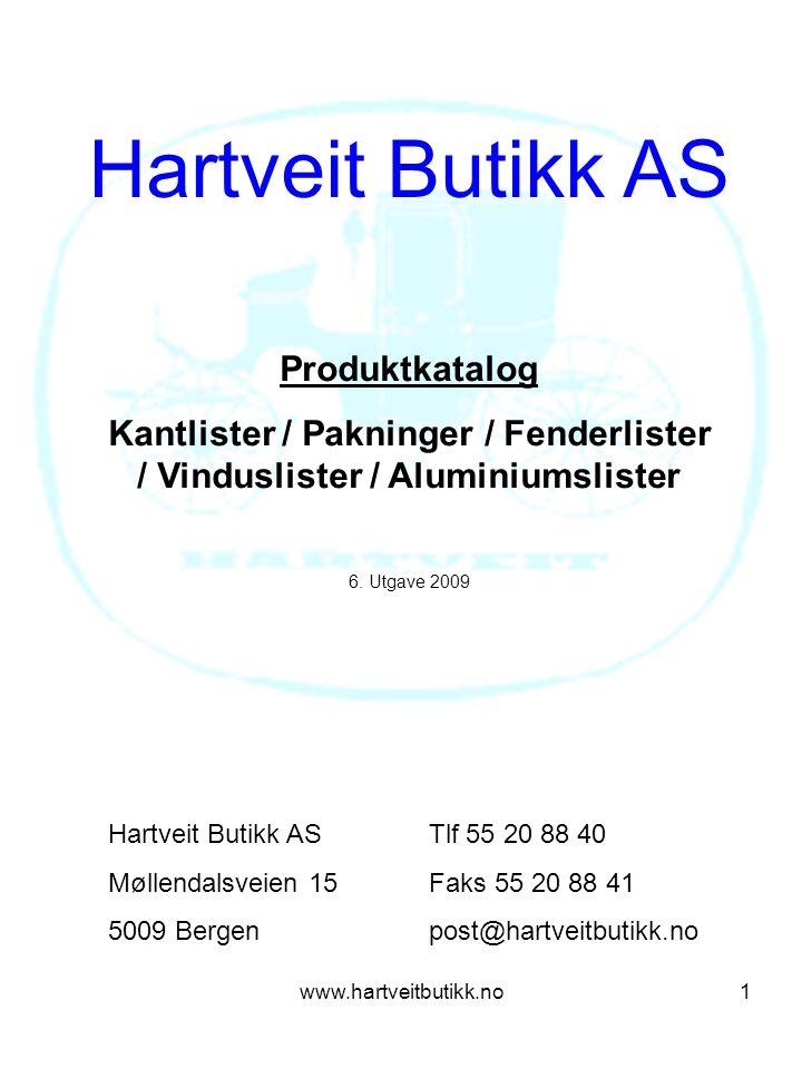 Hartveit Butikk AS Produktkatalog
