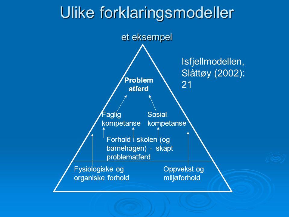 Ulike forklaringsmodeller et eksempel