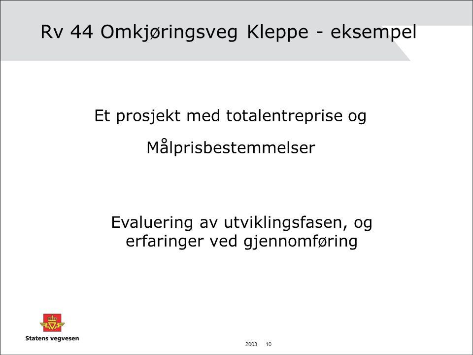 Rv 44 Omkjøringsveg Kleppe - eksempel