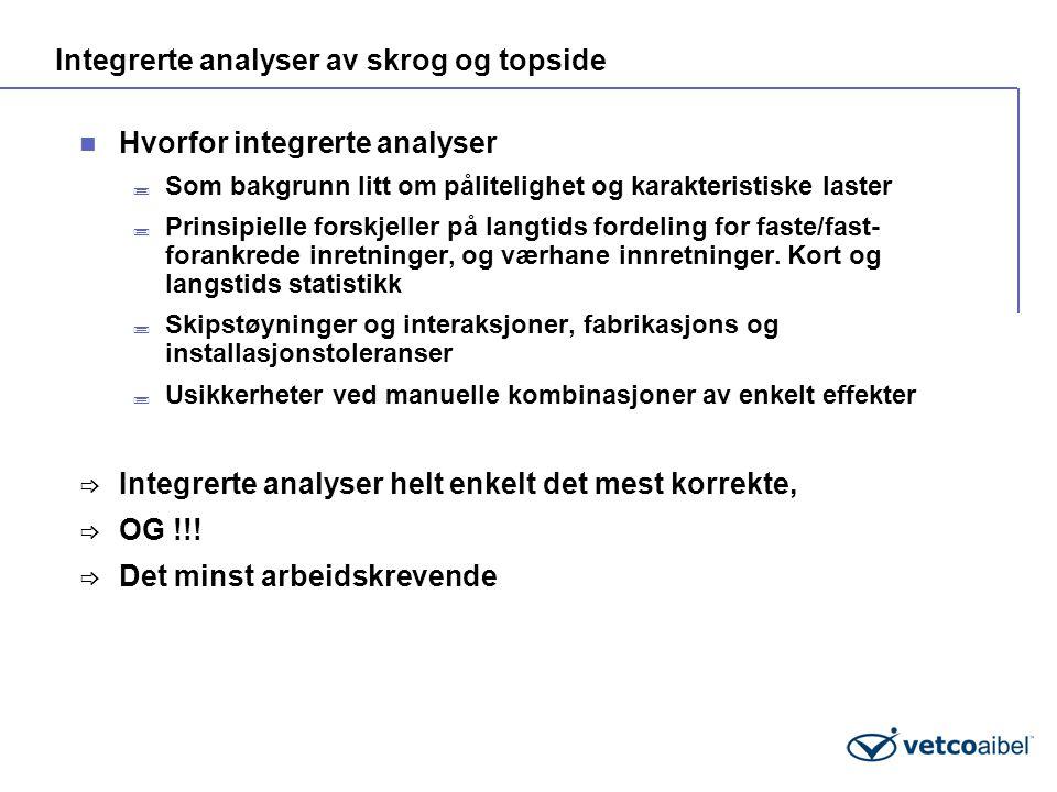 Integrerte analyser av skrog og topside