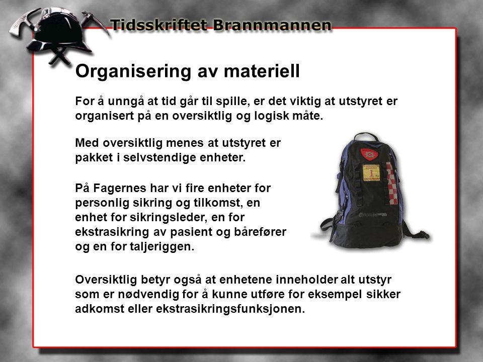 Organisering av materiell