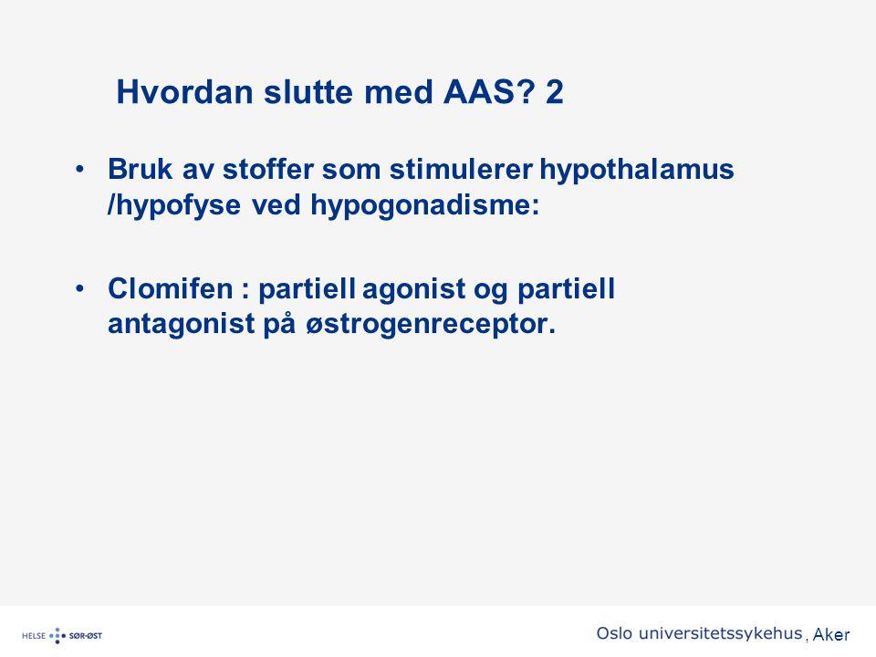 Hvordan slutte med AAS 2 Bruk av stoffer som stimulerer hypothalamus /hypofyse ved hypogonadisme: