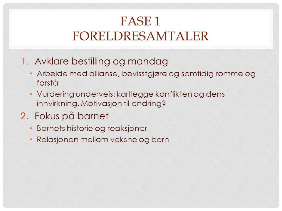 FASE 1 FORELDRESAMTALER