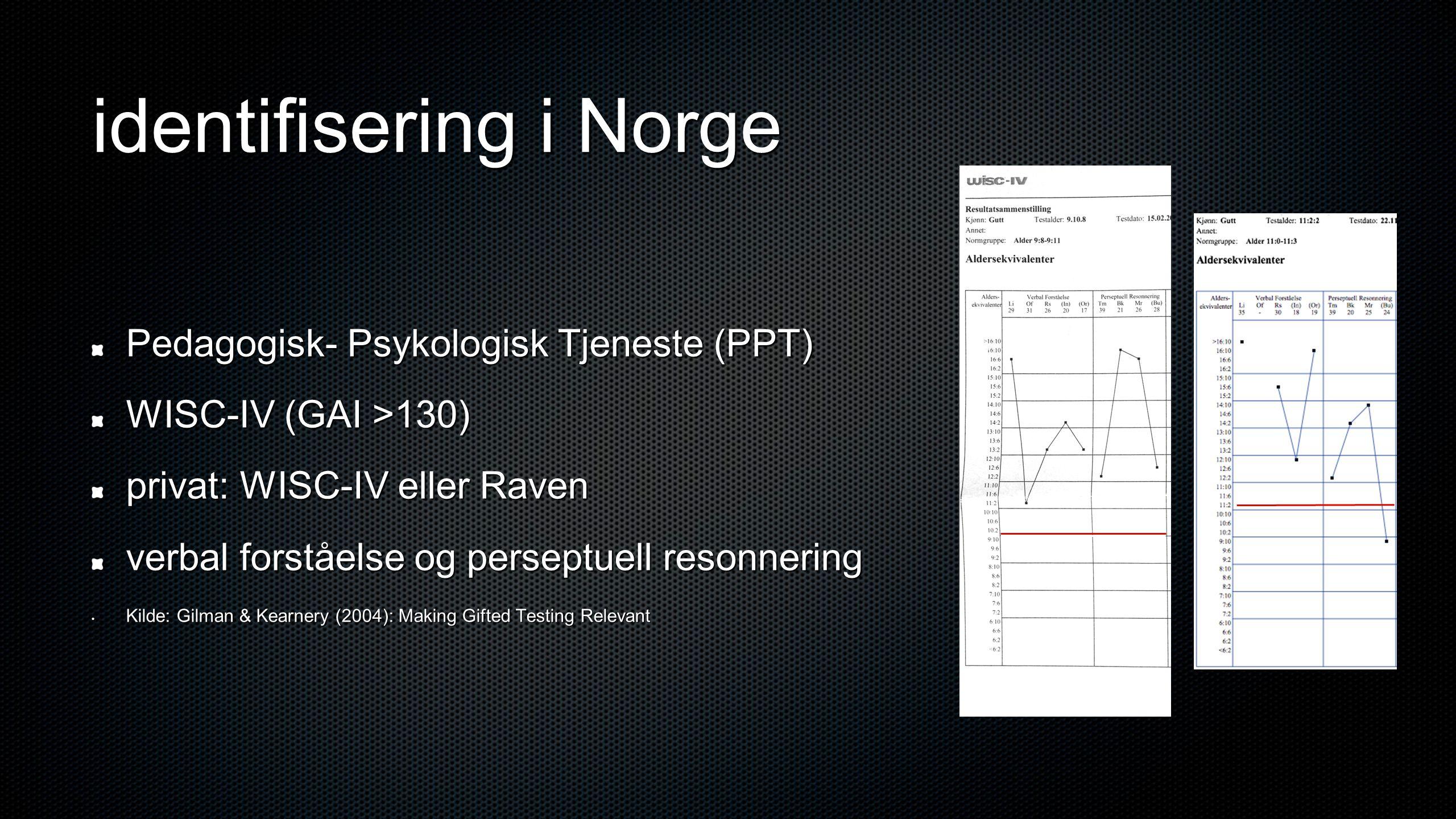 identifisering i Norge