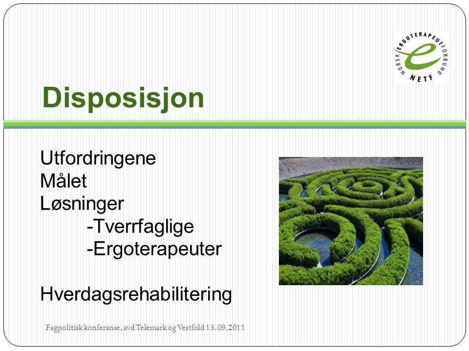 Disposisjon Utfordringene Målet Løsninger -Tverrfaglige
