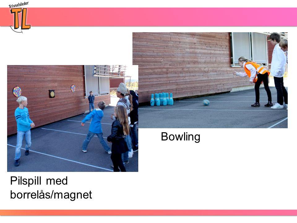 Bowling Pilspill med borrelås/magnet