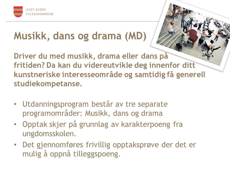 Musikk, dans og drama (MD)