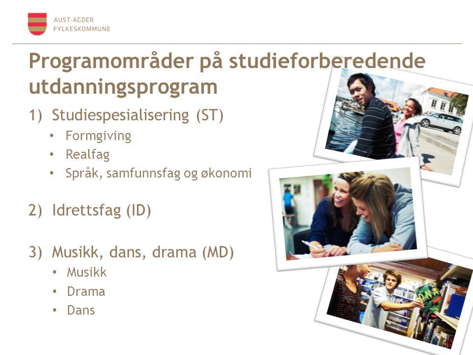 Programområder på studieforberedende utdanningsprogram