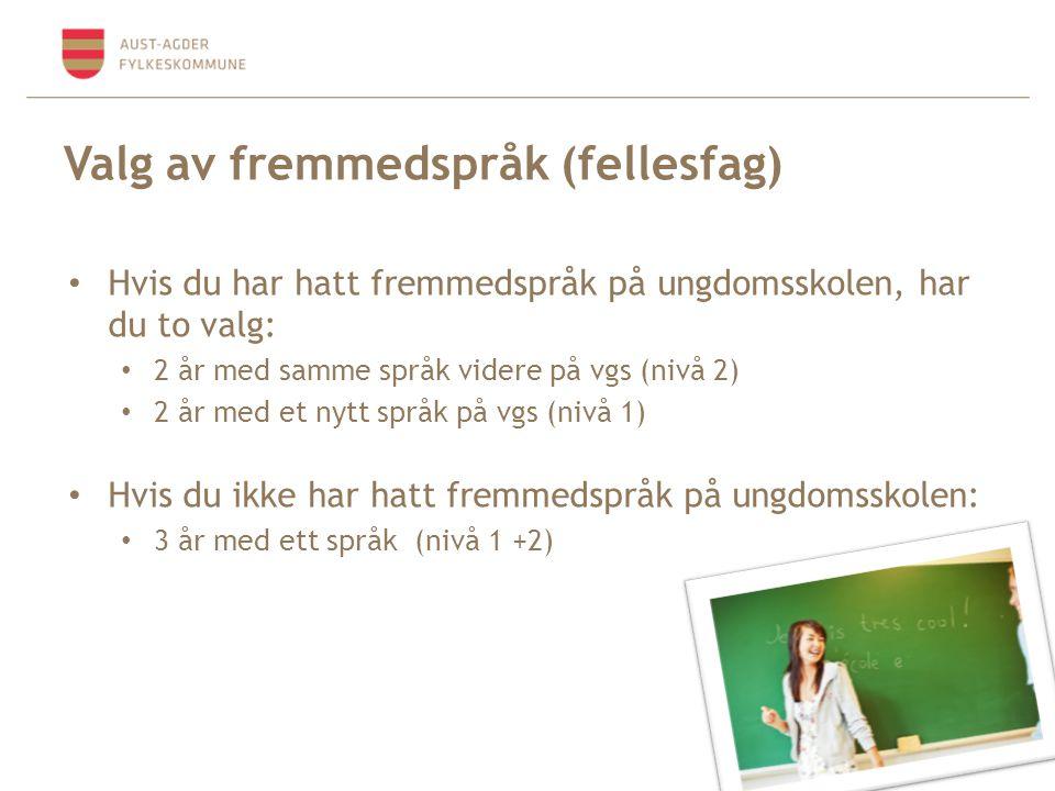 Valg av fremmedspråk (fellesfag)