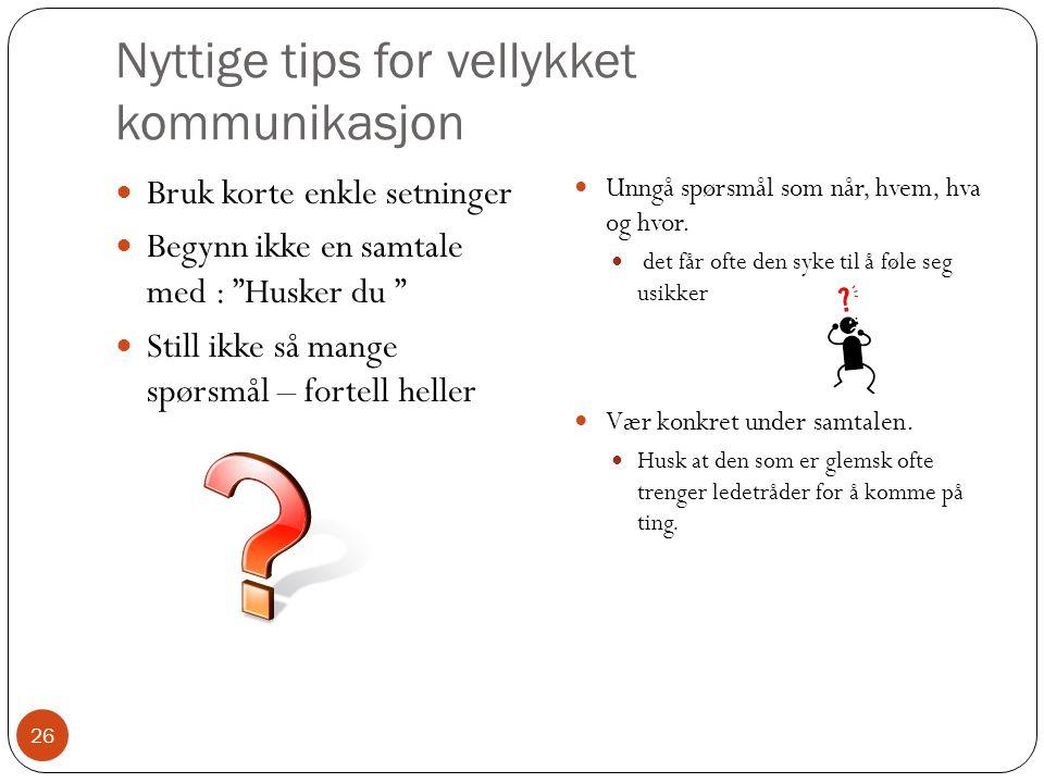 Nyttige tips for vellykket kommunikasjon