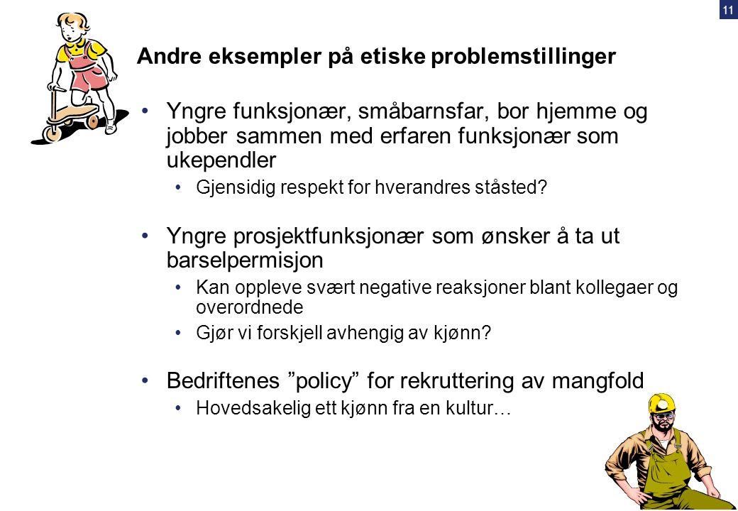 Andre eksempler på etiske problemstillinger