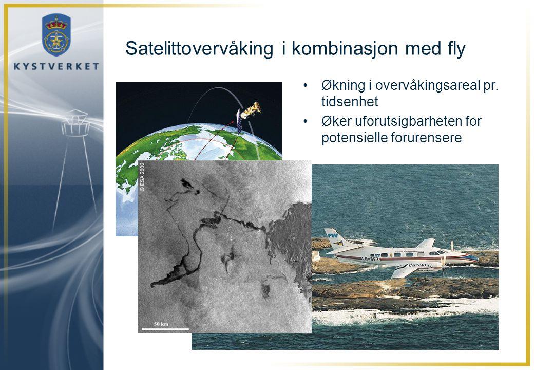 Satelittovervåking i kombinasjon med fly
