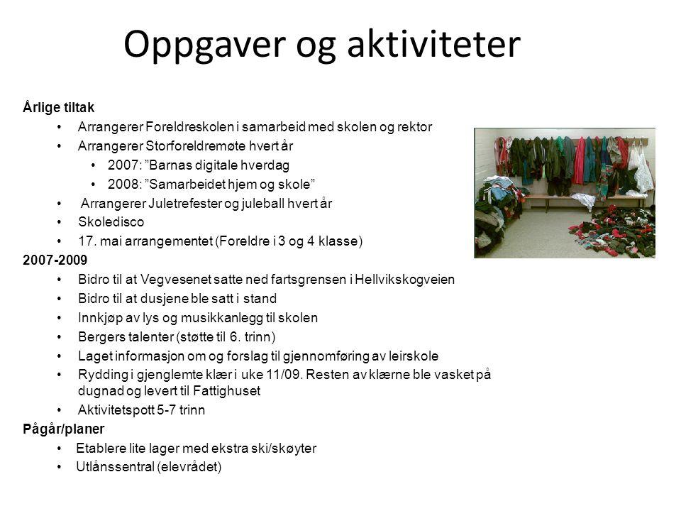 Oppgaver og aktiviteter