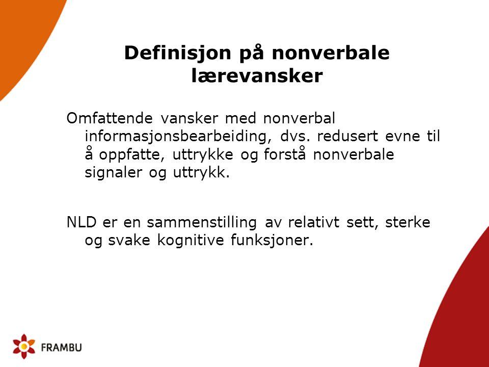 Definisjon på nonverbale lærevansker