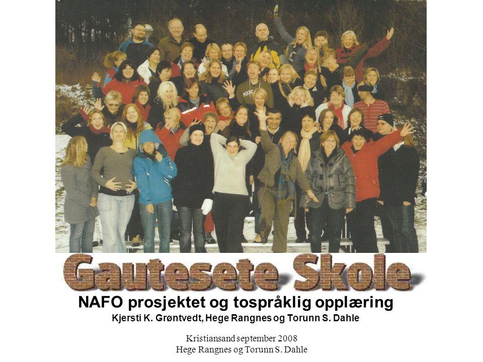 NAFO prosjektet og tospråklig opplæring