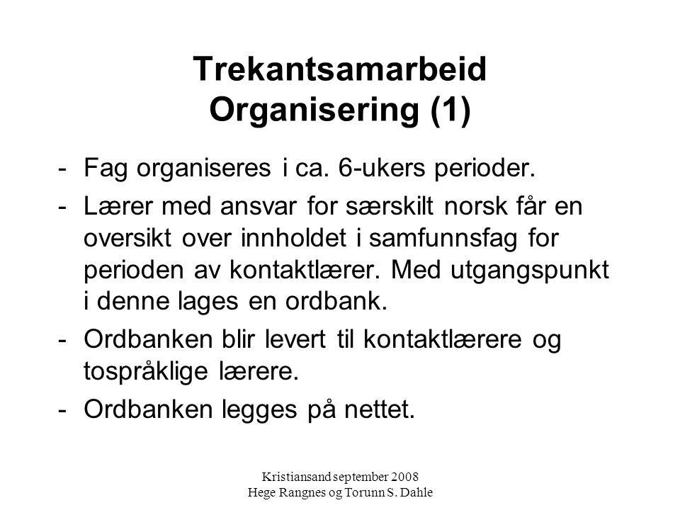Trekantsamarbeid Organisering (1)
