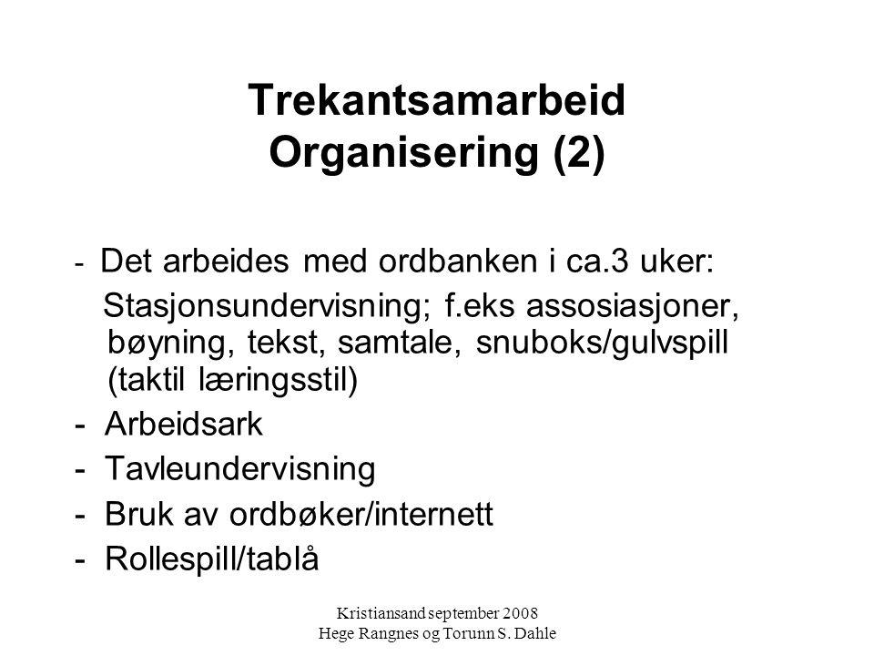 Trekantsamarbeid Organisering (2)