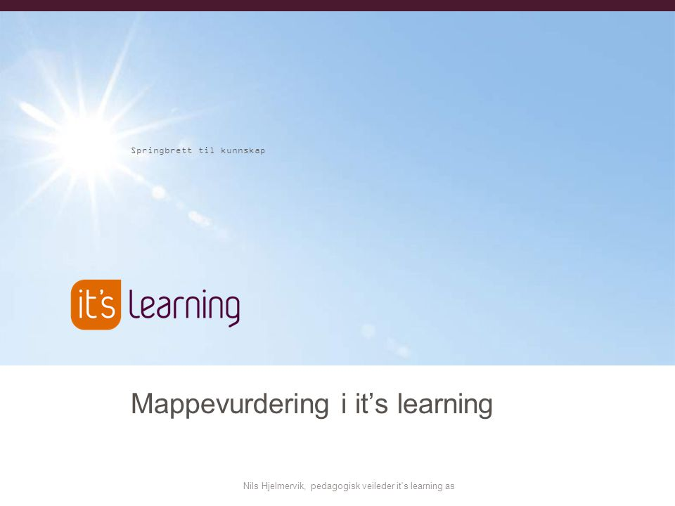 Mappevurdering i it's learning