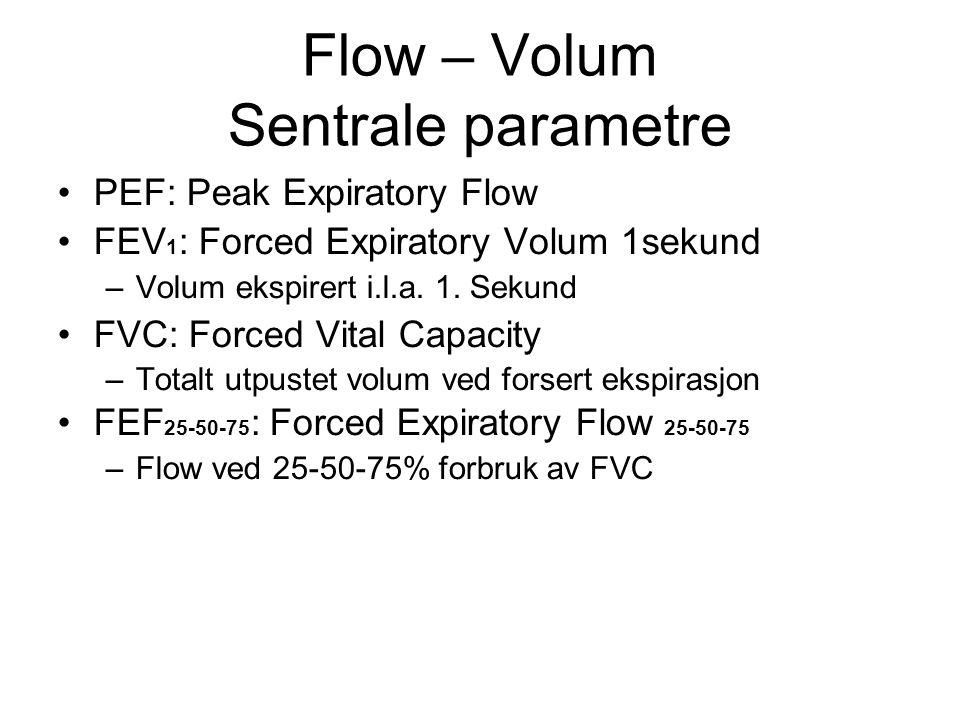 Flow – Volum Sentrale parametre