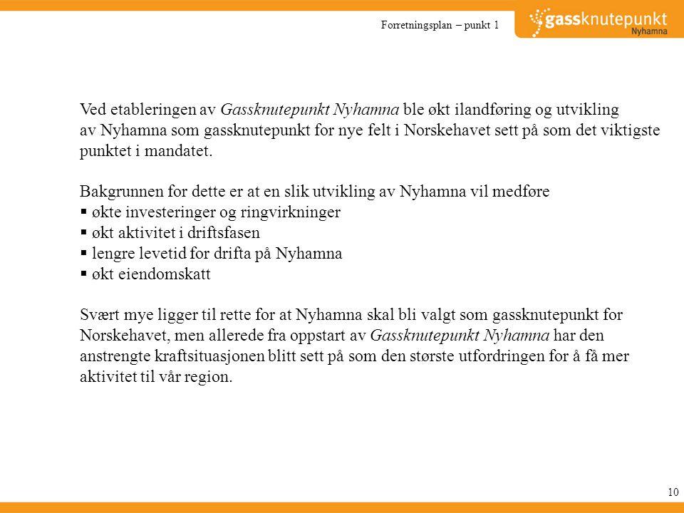 Bakgrunnen for dette er at en slik utvikling av Nyhamna vil medføre