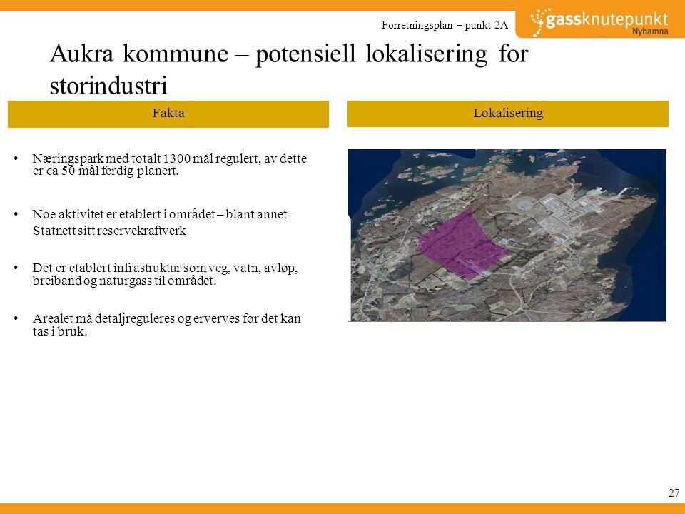 Aukra kommune – potensiell lokalisering for storindustri