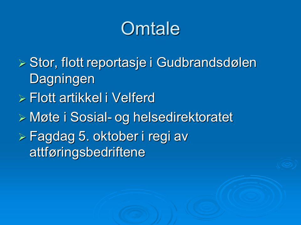 Omtale Stor, flott reportasje i Gudbrandsdølen Dagningen