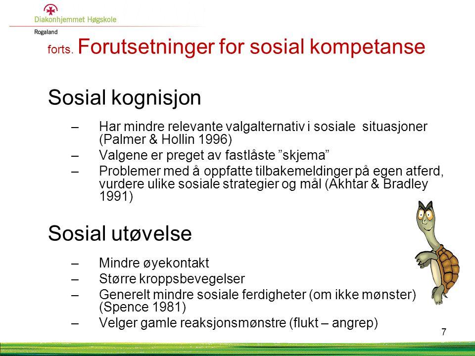 Sosial kognisjon Sosial utøvelse