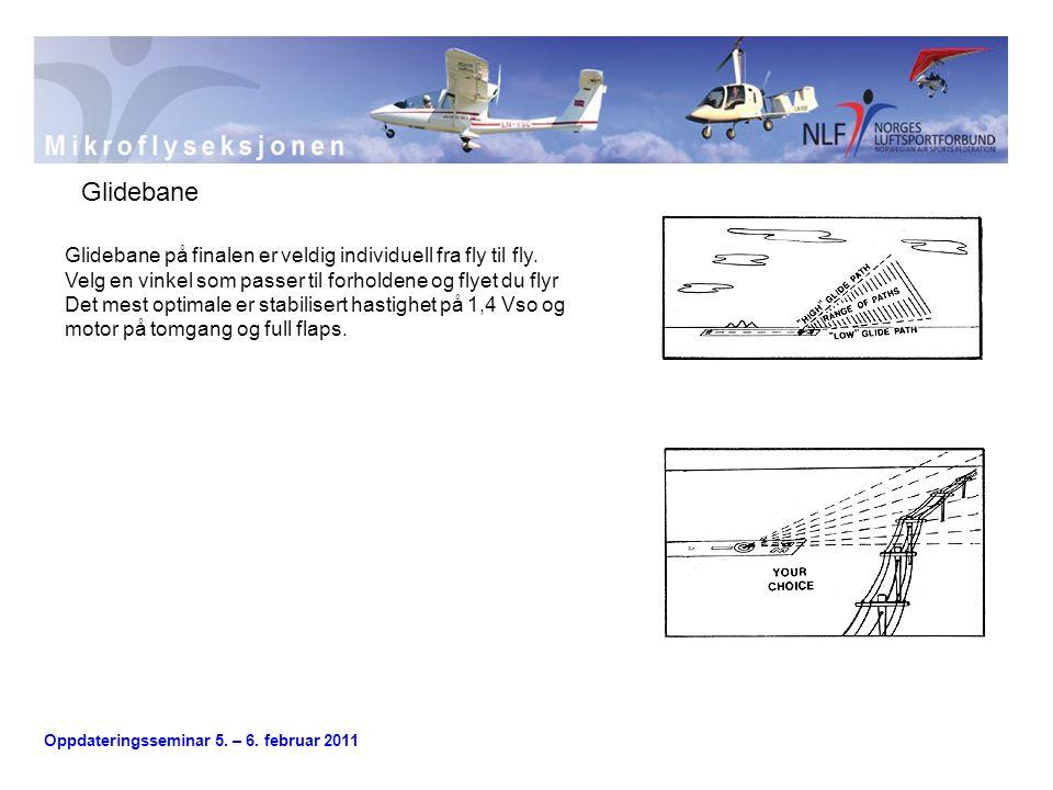 Glidebane Glidebane på finalen er veldig individuell fra fly til fly.