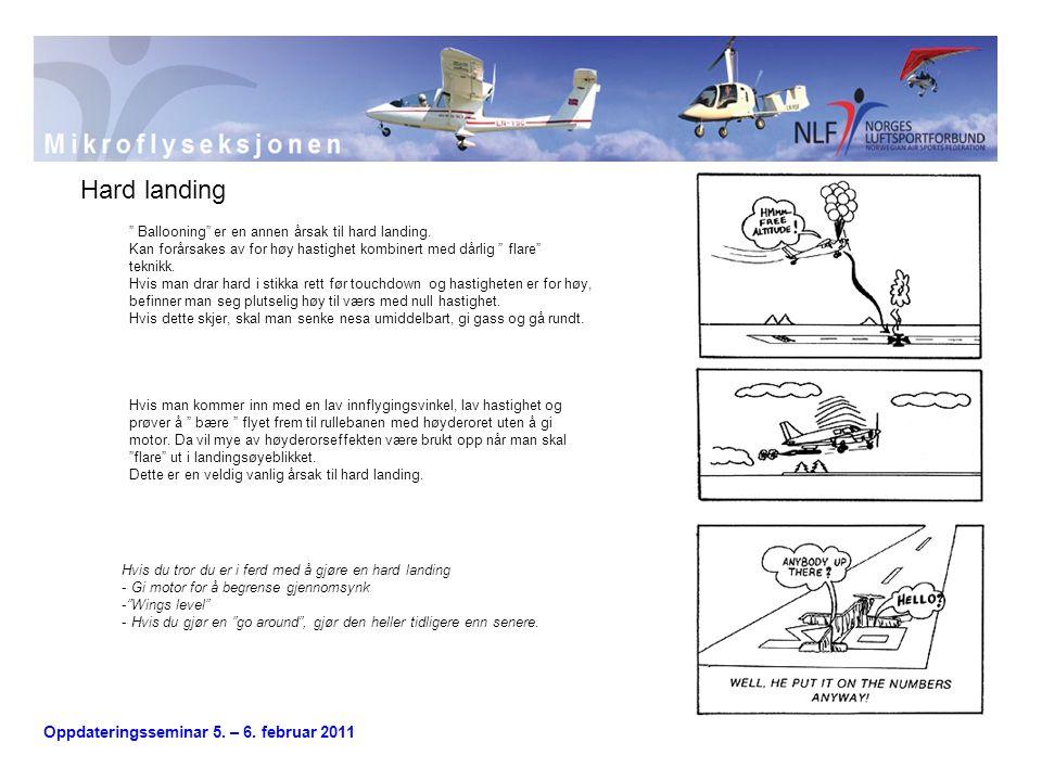 Hard landing Ballooning er en annen årsak til hard landing.