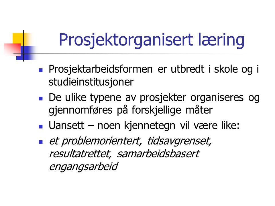 Prosjektorganisert læring